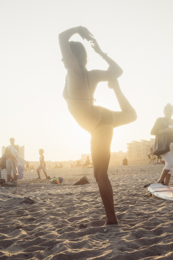 New York Yoga Teacher Patricia Pinto at Rockaway Beach