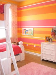 Pink and orange wall - wake up!