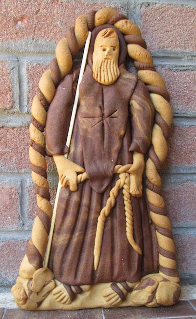 A 'Nzuddha shaped like a monk