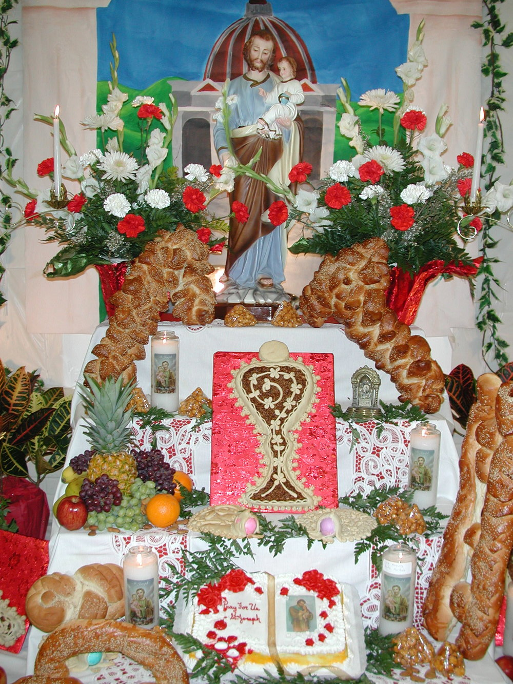 A Saint Joseph's Day altar in New Orleans, LA