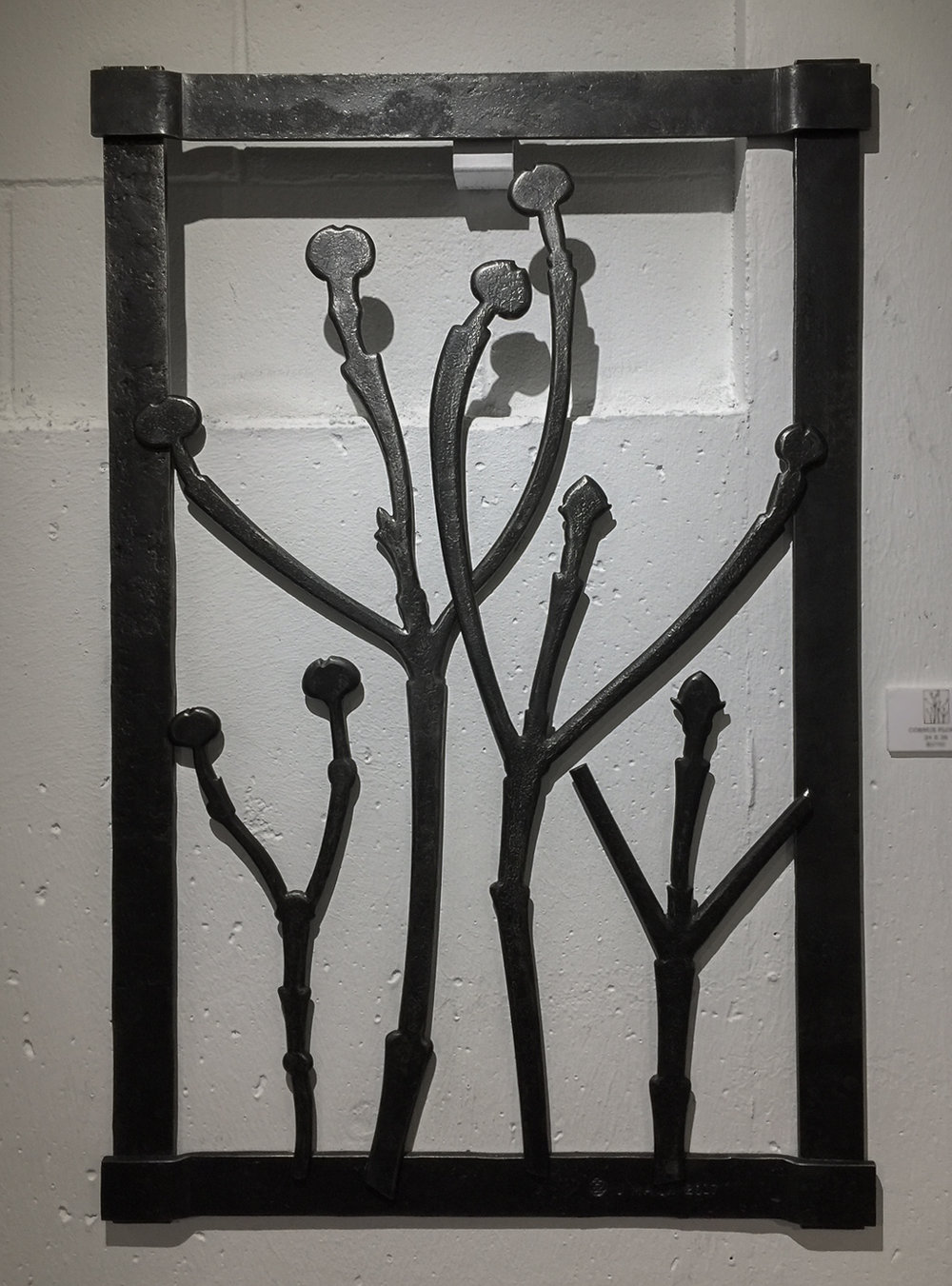 CORNUS FLORIDA 2017 24 x 36 Forged Mild Steel