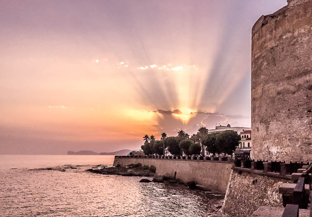 Sunset in Alghero - Sardinia