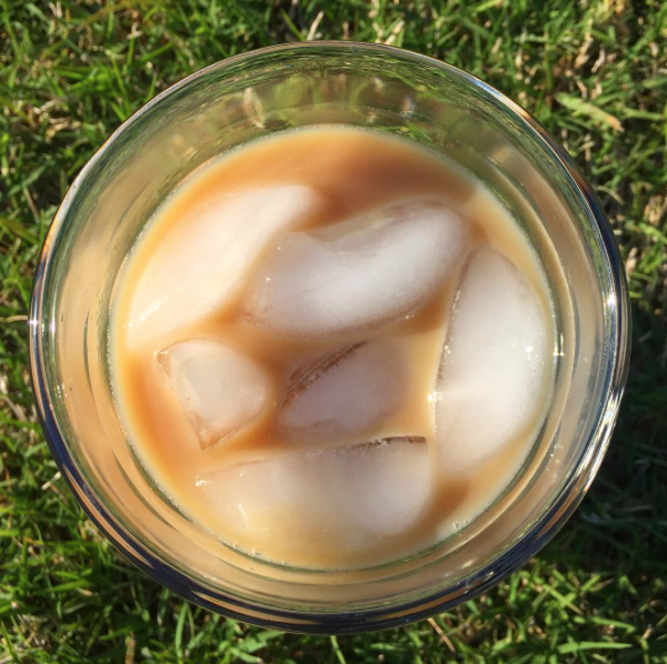 May 7 - A large iced coffee after a fun day in the sun.