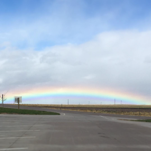 May 10 - A beautiful rainbow in the middle of Wyoming. We saw it on our way to see Abby and Jacob for their wedding.