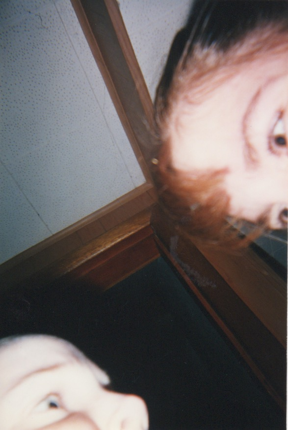 Here is a selfie of my best friend and I, years before you could see your image instantly!