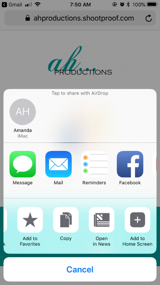 how to open and download the mobile app from ah productions on iPhone