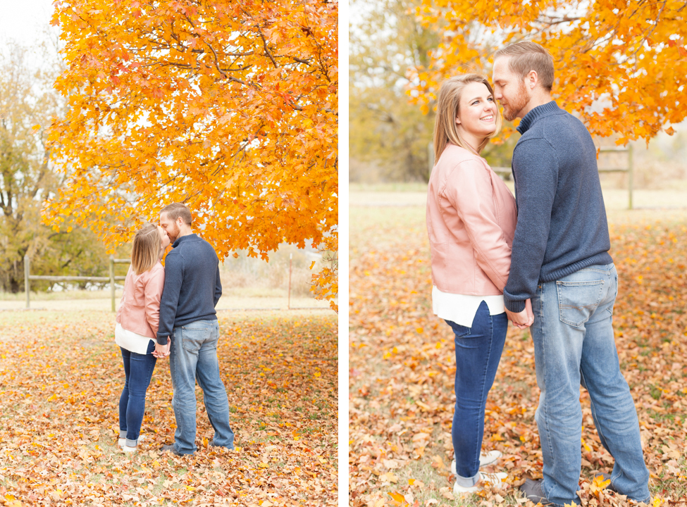 broken arrow oklahoma couple photography in fall leaves, orange trees, ah productions