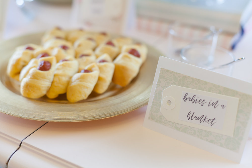 """These """"babies in a blanket"""" were fun, taking little beef sausages and wrapping small parts of the crescent rolls around them was so much easier than I thought it would be!! They were a hit! Tip: Make more than you think you should, ours flew off the plate as soon as I could put them out."""