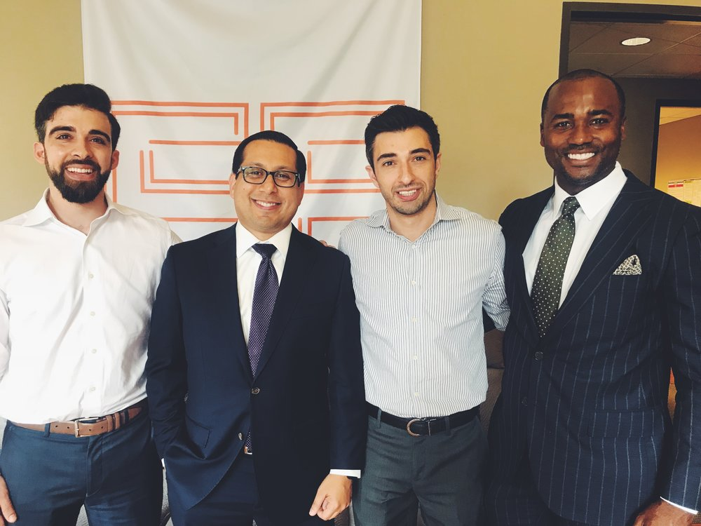 (L-R) Easy Expunctions CEO Yousef Kassim, State Rep. Diego, Bernal (D-San Antonio), Easy Expunctions CMO Rommy Kassim, and Bingham Group Founder CEO A.J. Bingham)