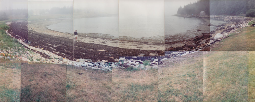 """Tommy in Head Harbor,"" 1995, Photo-mosaic, 7.5 x 18 in"