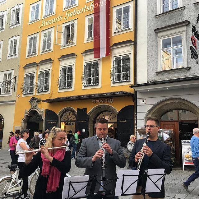 A few members recently went to Munich to play with our partner orchestra, after the conductor came to do a concert with us!