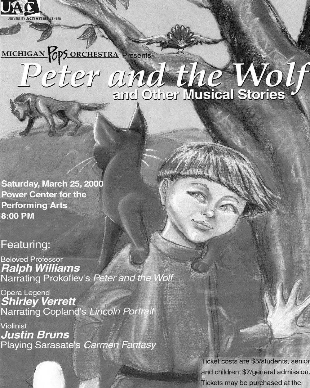 PETER AND THE WOLF  March 20, 2000*