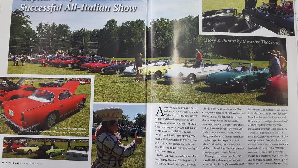 Washington DC Italian Car Show - 2018 car show dc