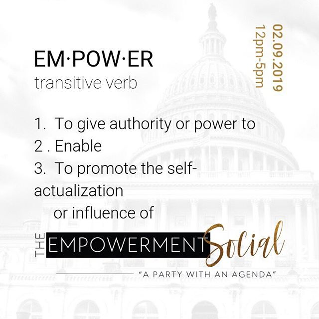 The most important part of this definition for us is #2. There is so much bad talk about empowerment events now-a-days. But, we promise that The Empowerment Social is different. . . . Our goal is to enable you to TAKE ACTION in your life after the event. It's not about getting you all inspired and then you quickly realize that you're confused when you get back home. . . . Our speakers will motivate you to take action directly following this event. It's not just about feeling good, it's about having the opportunity to learn something that you can implement. . . . #manifestyourself #theempowermentsocial #nyc #nycevents #dayparty #professionals #fortheculture #experience #networking #blackprofessionals #blackandeducated