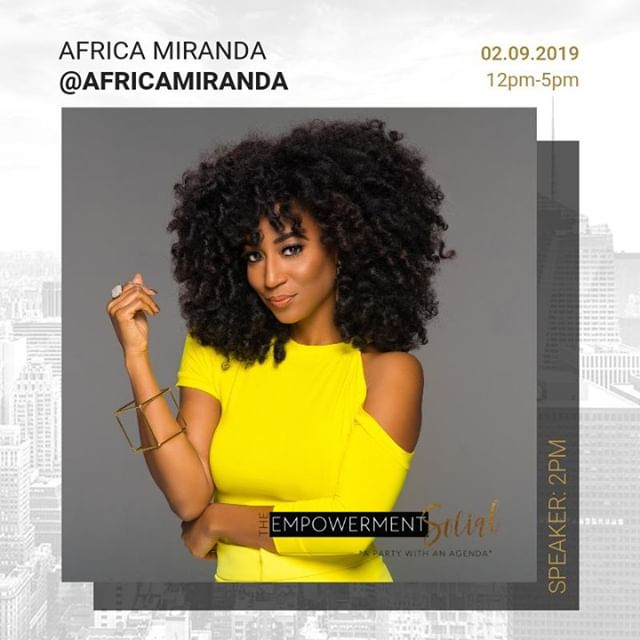 Our next empowerment talk is an interview with powerhouse Africa Miranda (@africamiranda) and VP of @edenbodyworks, Ylorie Taylor. . . . A dynamic speaker, actress and media personality, with distinctive style and quick wit, Africa Miranda has become an in-demand beauty expert, on-camera talent and host. In recent years, she can also add beautypreneur and author to her growing list of accomplishments. . . . Tune into this dynamic interview with EDEN BodyWorks to learn about self-care practices that can help you manage your career, relationships, business and more. Grab your tickets for the next event by going to theempowermentsocial.com or clicking the link in our profile. . . . #manifestyourself #theempowermentsocial #nyc #nycevents #dayparty #professionals #fortheculture #experience #networking #blackprofessionals #blackandeducated