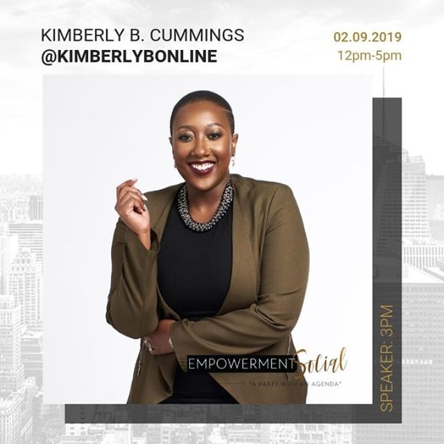 "Last but not least, we have an empowerment talk to help you #securethebag with Kimberly B. Cummings (@kimberlybonline). ""How to Get the Salary You Deserve - not the one they offer you"" . . . Through Kimberly B. Cummings' experience as a career + leadership coach for some of the nation's top universities and corporations, she has taught professionals how to #securethebag in numerous industries and roles. . . . In this mini-workshop, she will be teaching attendees how to get the salary they deserve, not the one they offer you.  Grab your tickets for the next event by going to theempowermentsocial.com or clicking the link in our profile. . . . #manifestyourself #theempowermentsocial #nyc #nycevents #dayparty #professionals #fortheculture #experience #networking #blackprofessionals #blackandeducated"