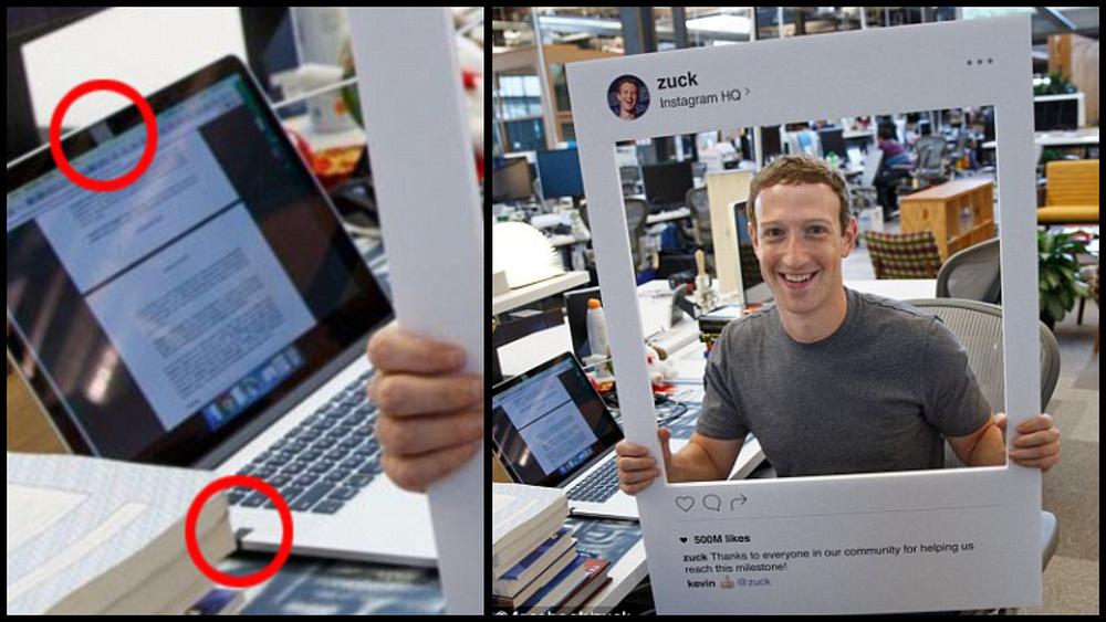 Mark Zuckerberg covering his MacBook Pro w/ Retina camera and microphone