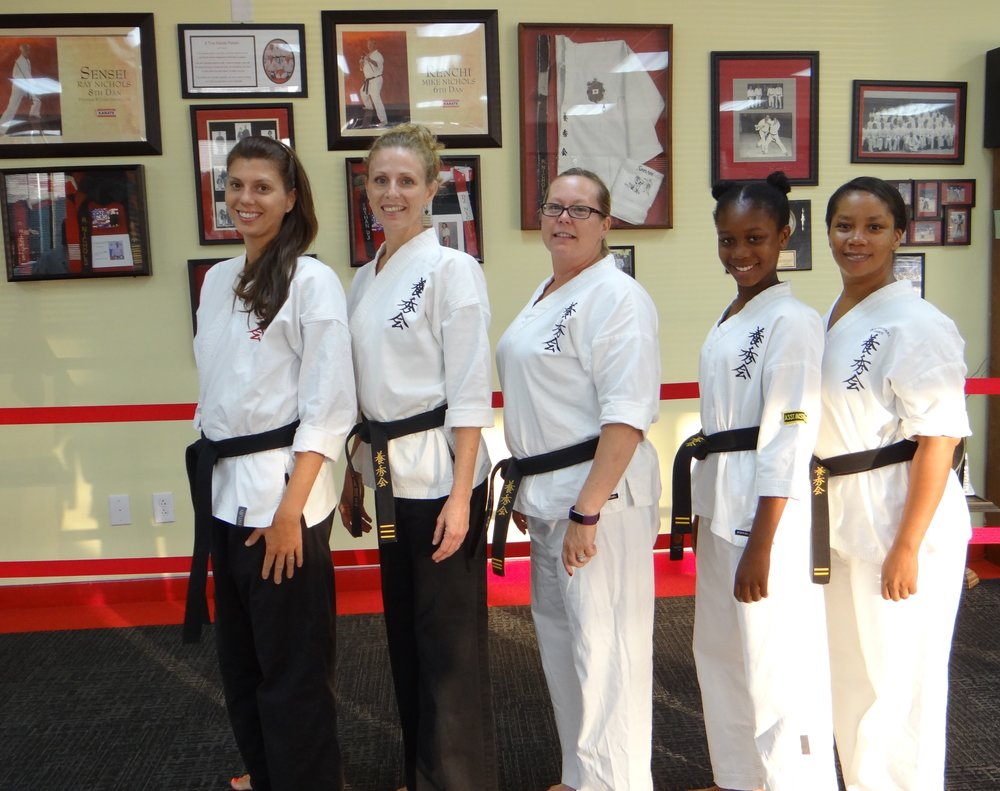Black Belt Ladies at Grants Mill Station Dojo