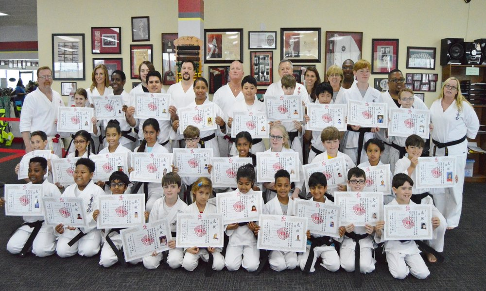 May 20, 2017 Black belt testing Class photo