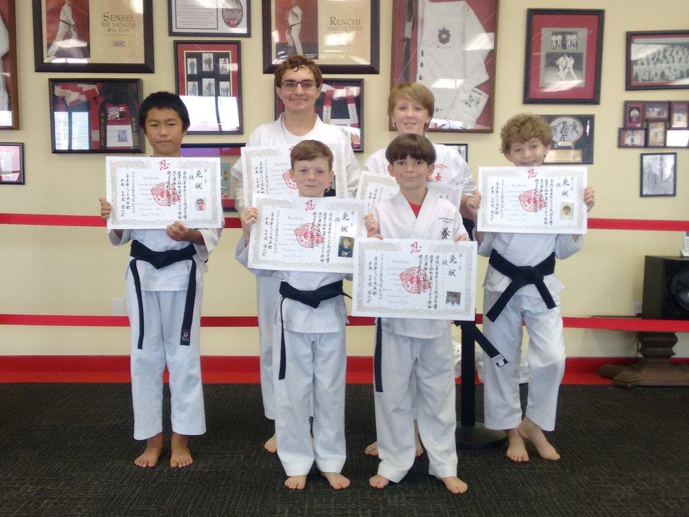 November 10, 2018 Black belt Testing class