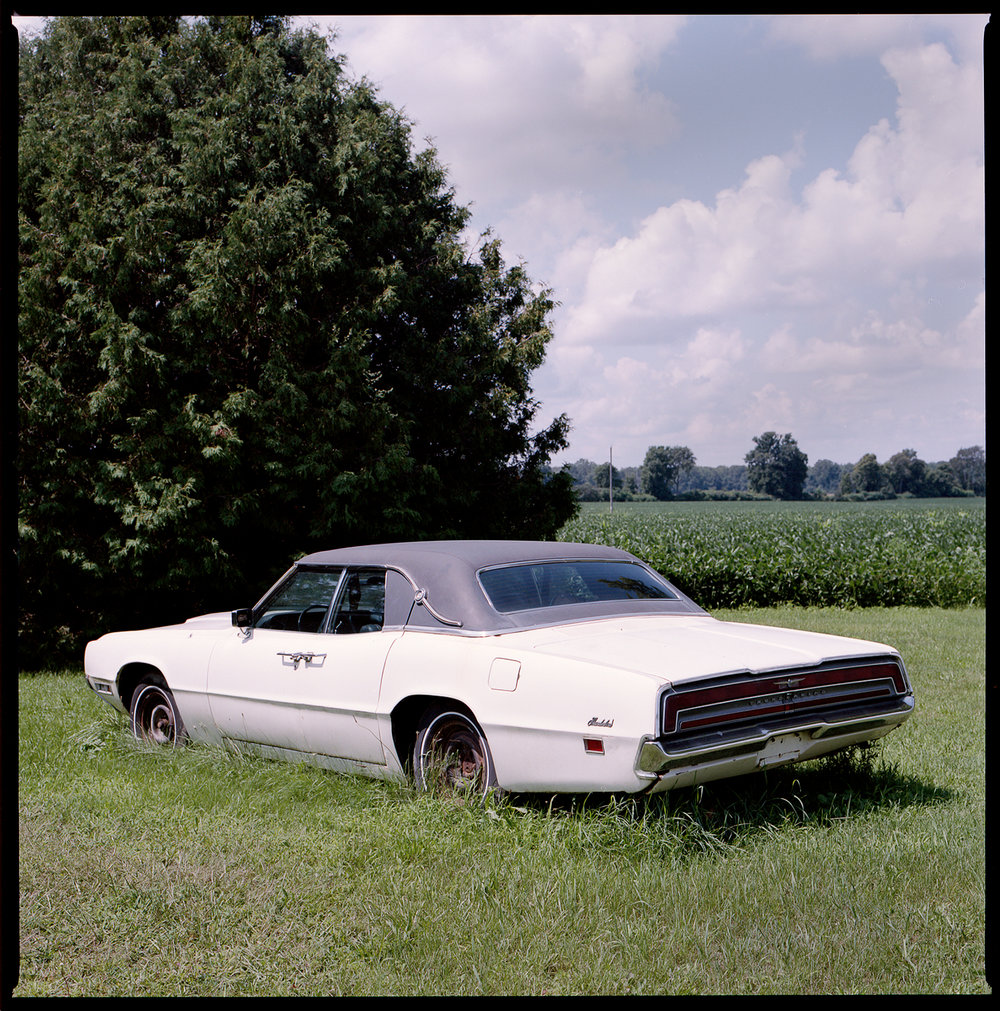 Kodak-Portra-160-Hasselblad-501CM-6x6-Chatam-Ontario_VIntage-Car-Find-in-open-valley.jpg