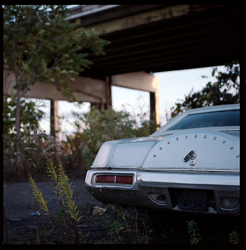 Kodak-Portra-160-Fall-Sunset-Downtown-Toronto-Vintage-Sombre-Lonely-Color-Pallette-Pushed-Pulled-Hasselblad_Vintage-Muscle-Car.jpg