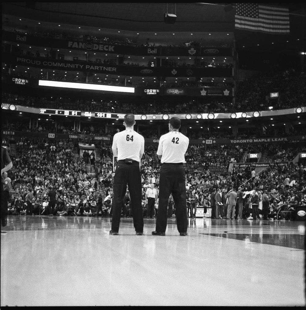 65-NBA-Referees-Toronto-Raptos-VS-Cleveland-Caveliers-Lebron-James-Vintage-Film-Courtside-Ilford-HP5+.JPG