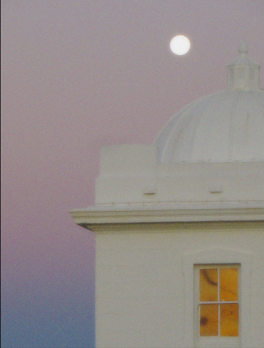 Macquarie lighthouse, moonrise, Vaucluse, Sydney, New South Wales