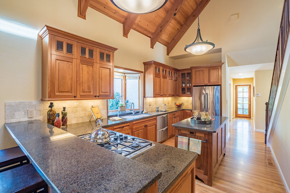 Large Updated Kitchen Santa Cruz Home