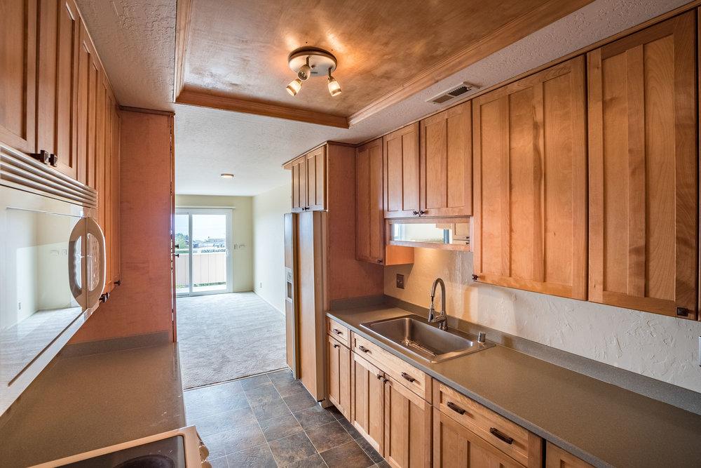 Galley Style Kitchen in Ocean View Santa Cruz Condo