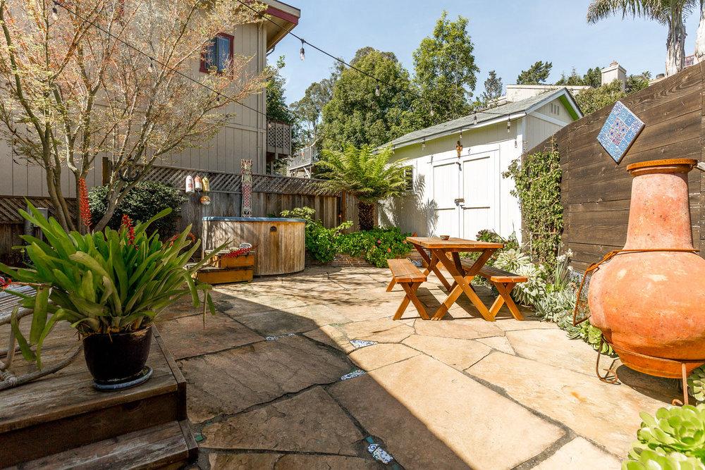 Private Backyard with Patio in Santa Cruz, California