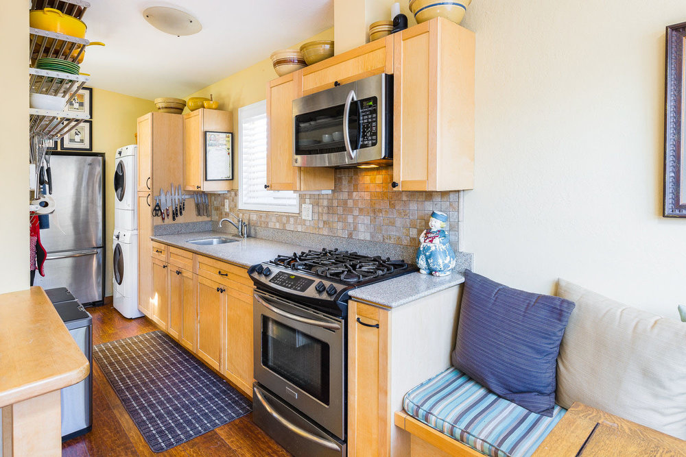 Chef's Kitchen in Westside Santa Cruz Home