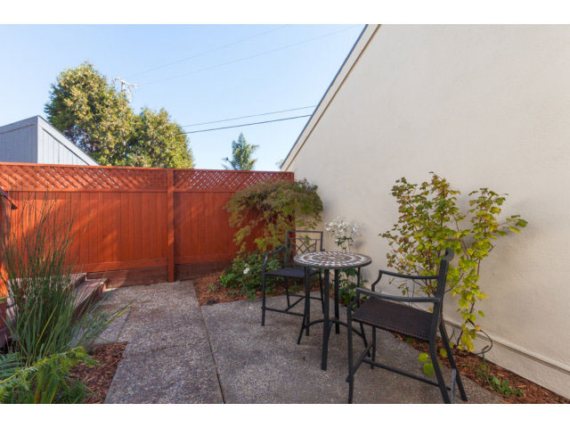 Fenced in Patio Santa Cruz Real Estate