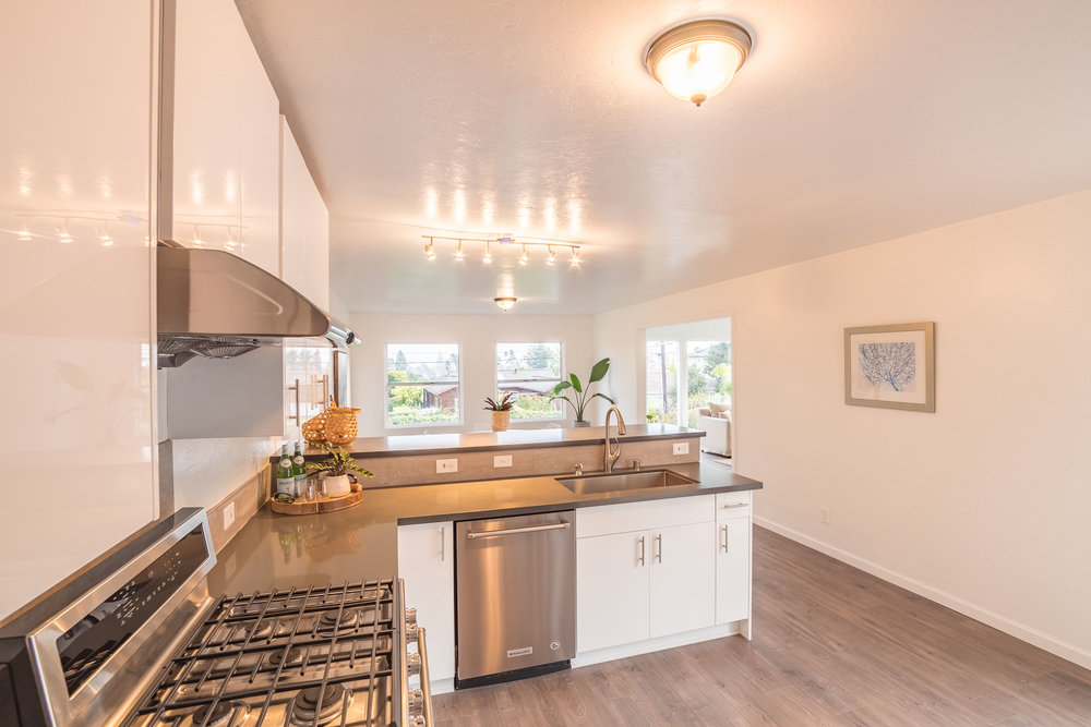 Santa Cruz Home with Remodeled Kitchen