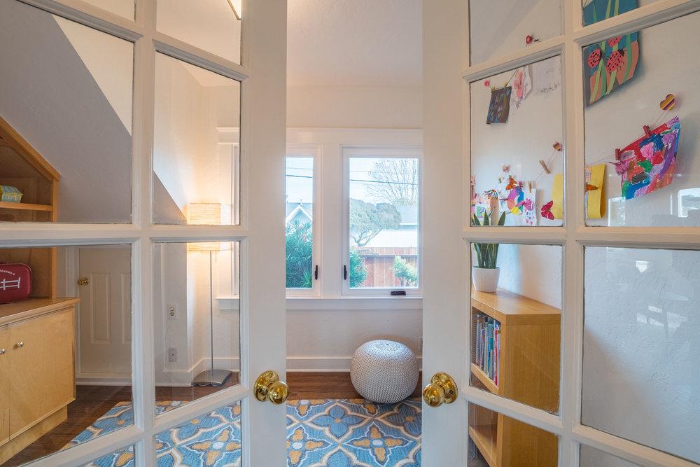 Bonus Room in Craftsman Style Home in Santa Cruz, California