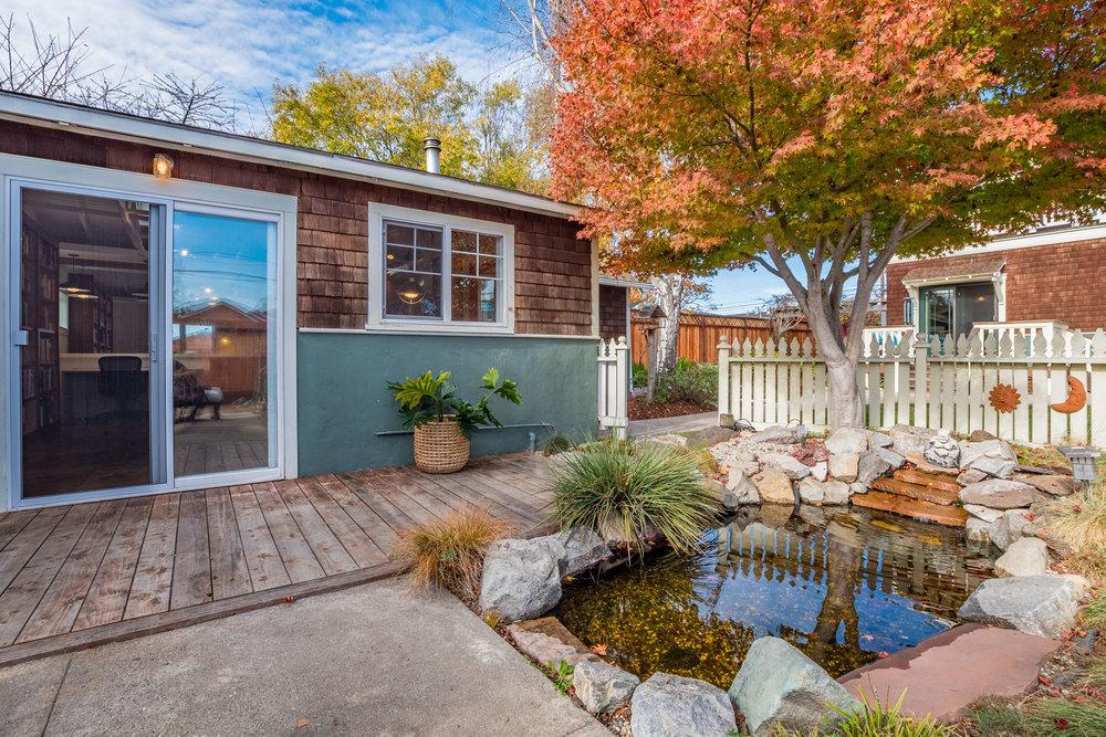 Detached Garage, Pond, Landscaped Yard Santa Cruz Home