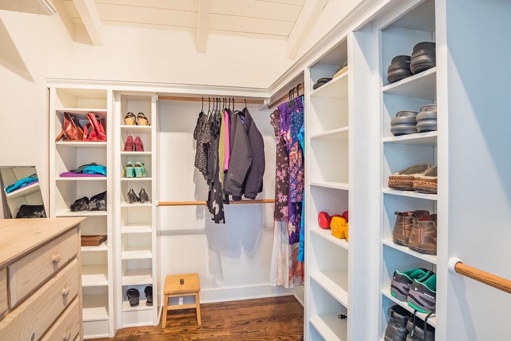 Large Walk-In Closet Santa Cruz Real Estate