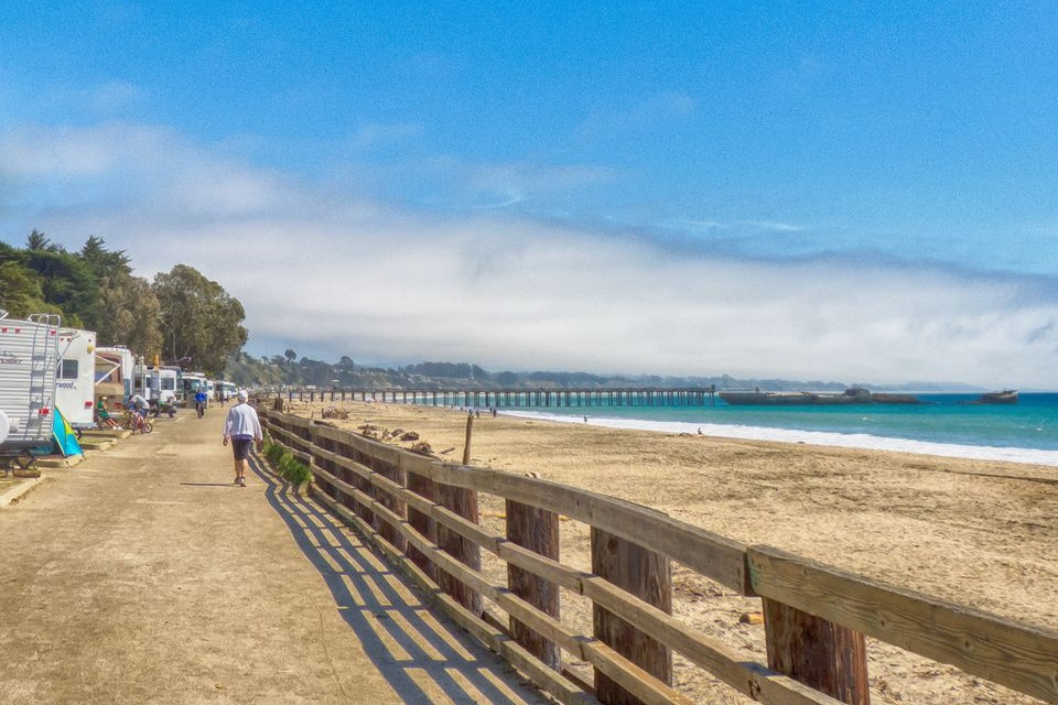 seacliff state beach - Home to the cement ship, Seacliff State Beach offers a long stretch of sunny beach perfect for strolling.  It also offers an RV campground, shaded picnic areas, small pier, and a visitor center.