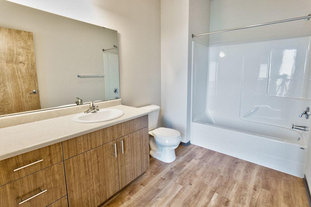2-Bedroom Plan: Master Bath