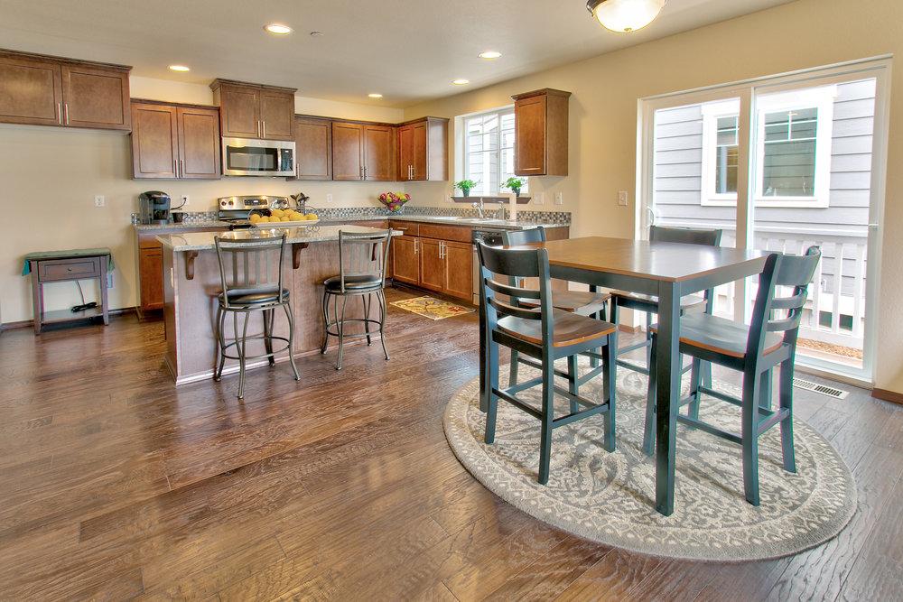 Hand-scraped style hardwood flooring
