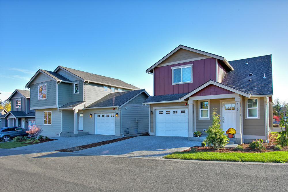 Homes Along Gale Lane AT TRIO|COTTAGES IN BELLINGHAM