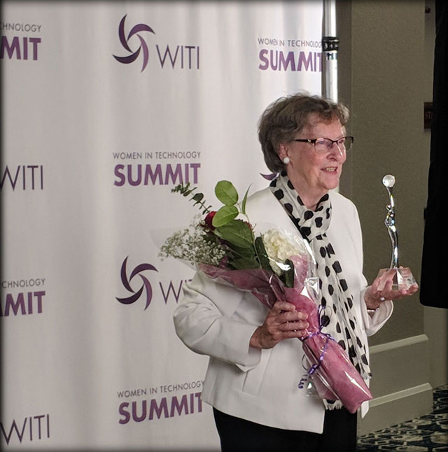 "Elizabeth ""Jake"" Feinler @ the WITI Summit 2018, San Jose, Calif."