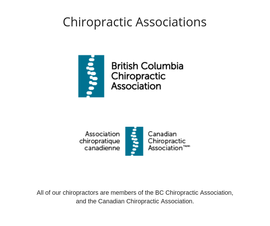 BC and Canadian Chiropractic Associations