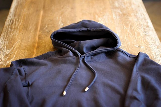 "It's layering time. Is that a thing? ""Layering time"" probably not. Sticking with it. Folks, it's layering time!! Get your hands on our hoodies in navy and black in store and online. . . . #ForgeDenim #MadeInEngland #EveryDetailMatters"