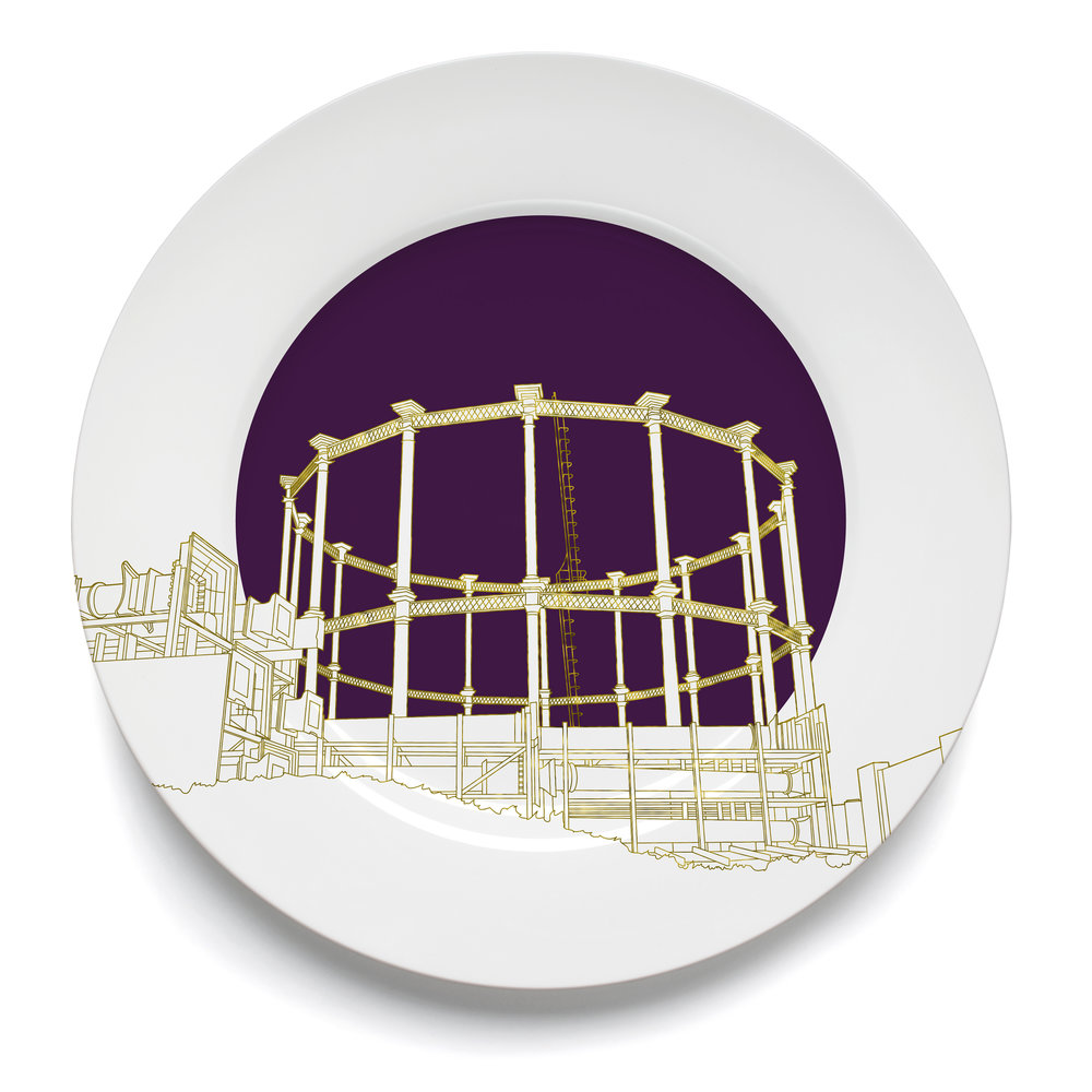 Gas Holder No.8 - gold
