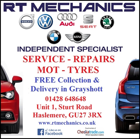 RT Mechanics Ltd is an Independent Volvo, Audi, VW, Seat, Skoda, BMW & Mini Specialist offering servicing and repair; a cost effective alternative to the main dealer network. We maintain your vehicle to a high standard of safety and quality in line with the manufacturers requirements. The concept we have is simple: We aim to look after you...not just your vehicle. We are passionate about our business and are continually investing in and improving our service to bring you the best possible experience. Conveniently located just 5 minutes from the A3 in Haslemere. Visit our website for detailed information of how to find us. A free collection and delivery service is also available. Check out our Facebook page: at https://www.facebook.com/RTMechanics.co.uk/
