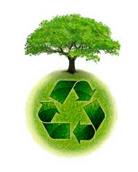RECYCLing of used industrial garbage  -