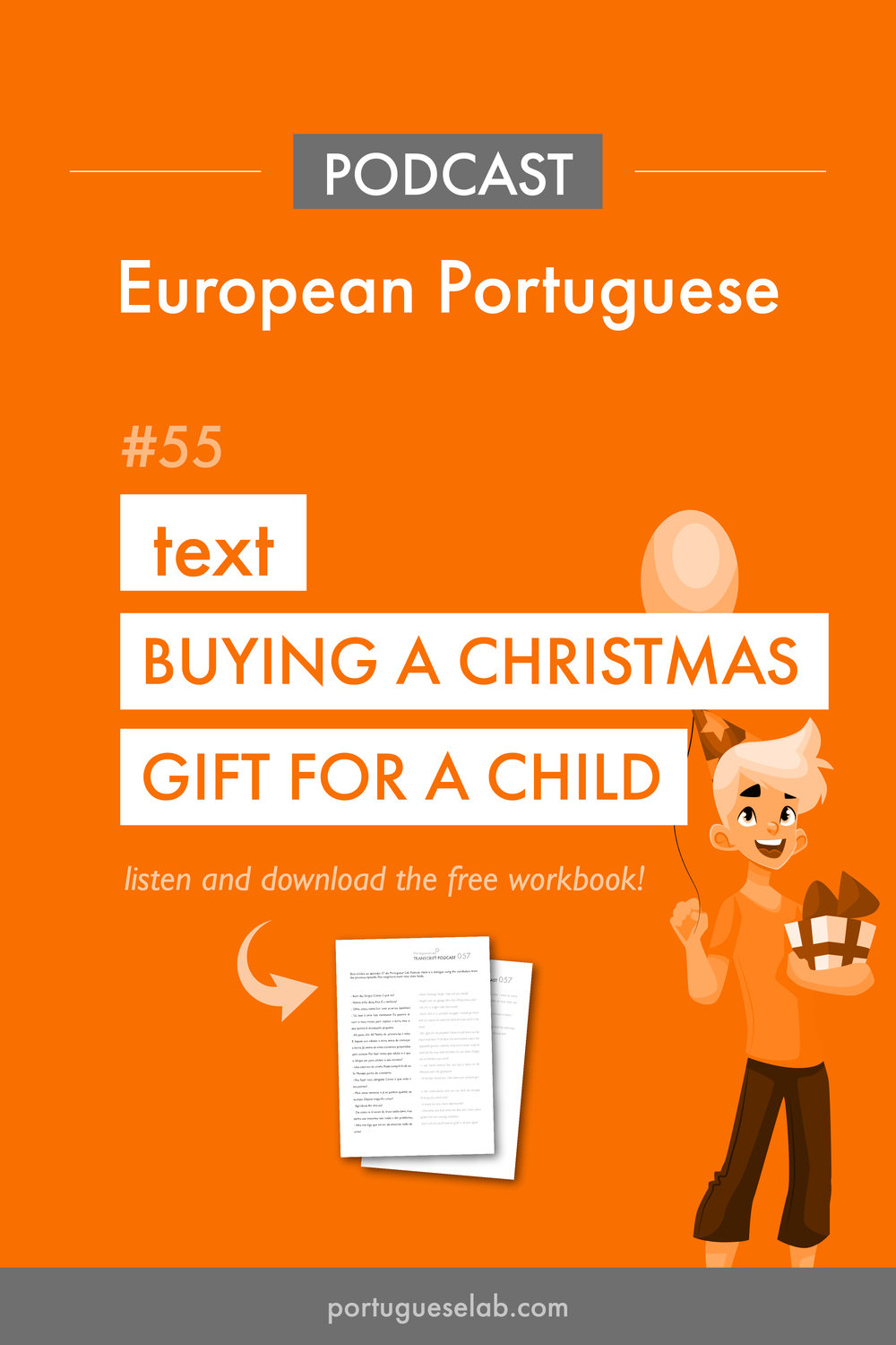 Portuguese Lab Podcast - European Portuguese - 55 - Text - Buying a Christmas gift for a child.jpg