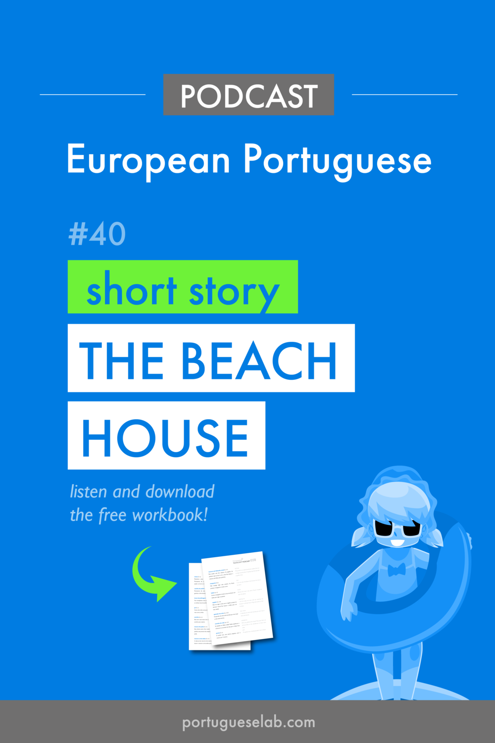 Portuguese Lab Podcast - European Portuguese - 40 - The beach house.png