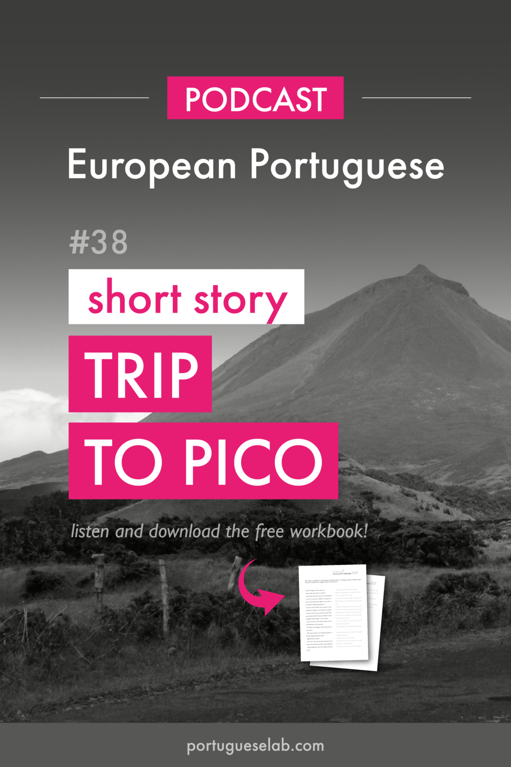 Portuguese Lab Podcast - European Portuguese - 38 - Trip to Pico - short story.png